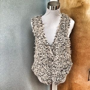 Free People Fabulous Furry Vest Grey/Cream